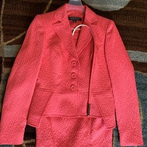 Anne Klein coral belted skirt suit. Never worn